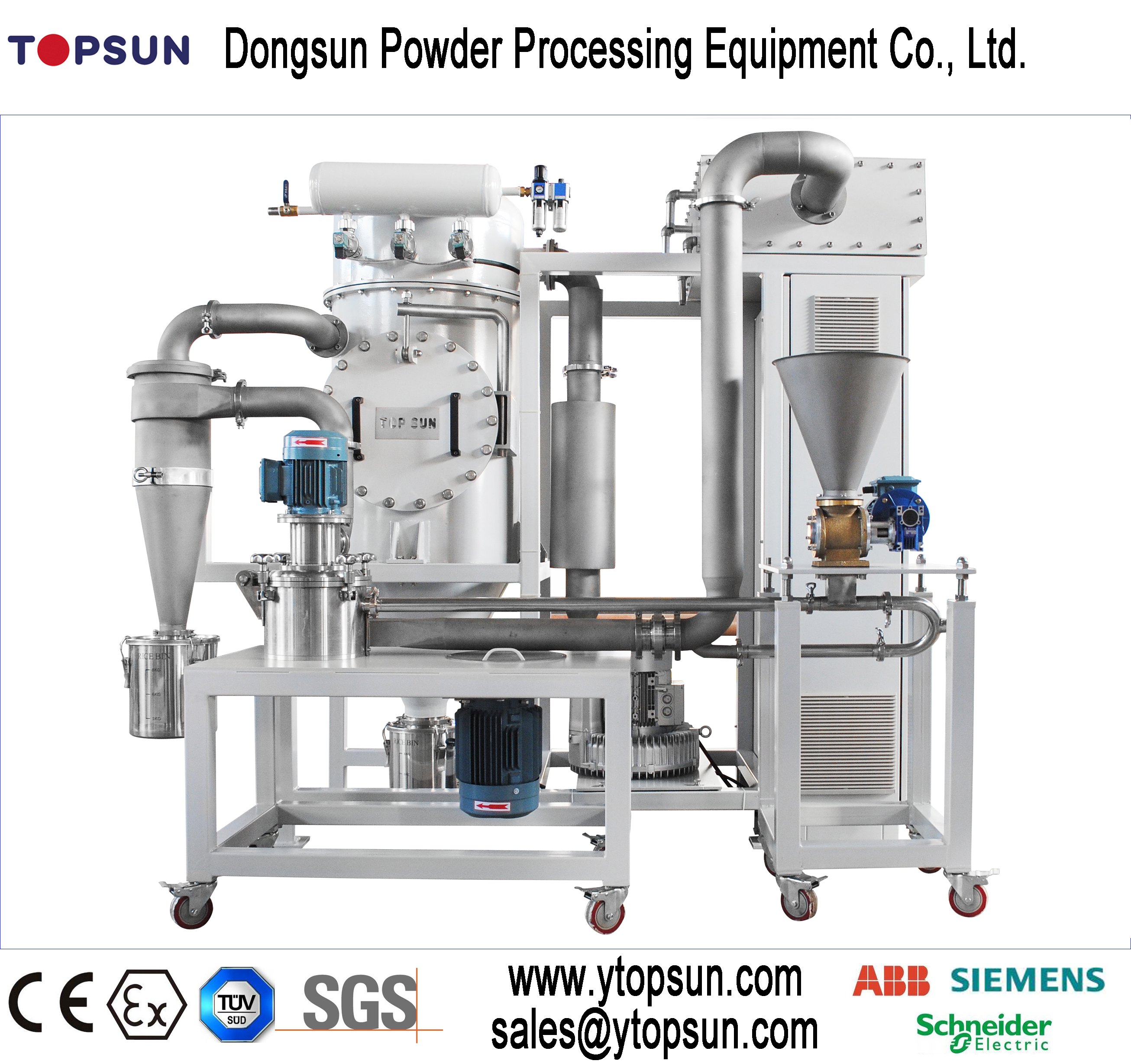 Silencing 1000Kg Electrostatic Powder ACM MILL