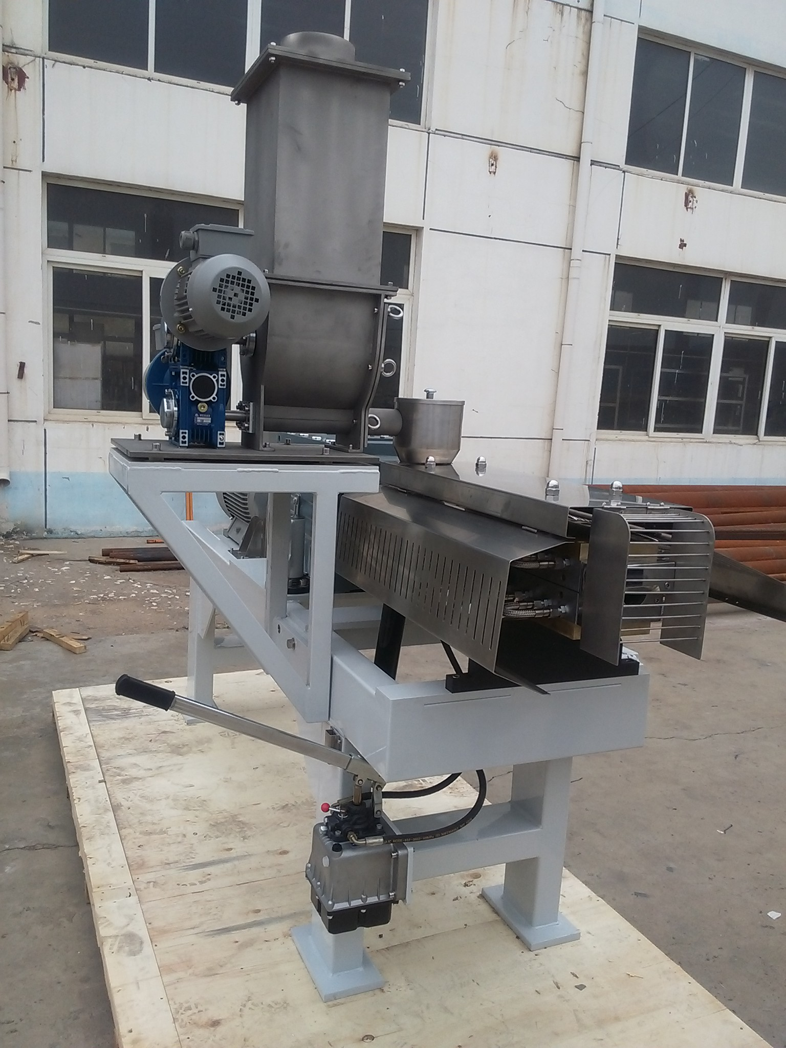 Conical Compound Food Processing Twin Screw Extruder