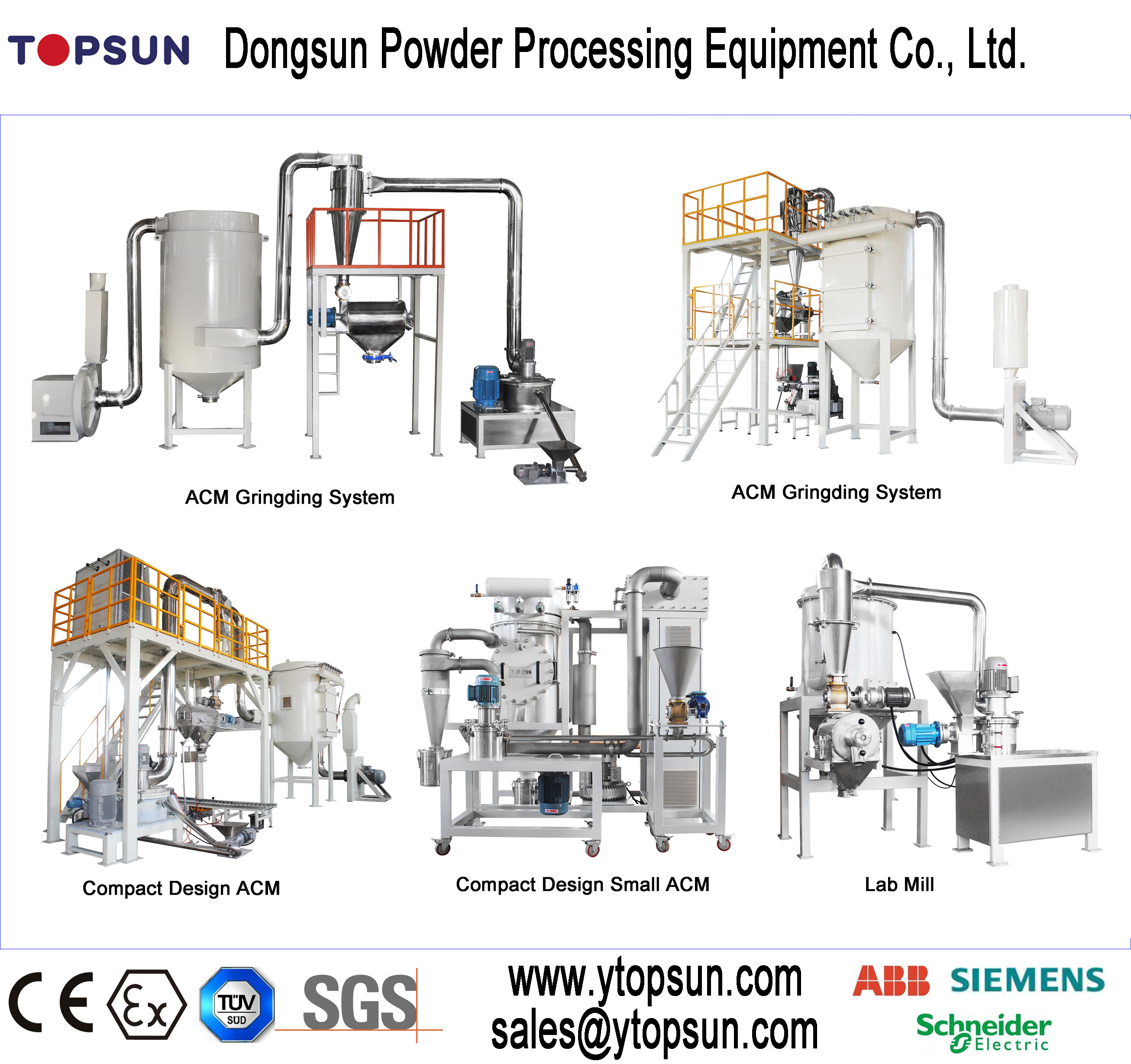 Dust Collecting 500Kg Electrostatic Powder ACM MILL